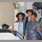 Inspirational student graduates in hospital bed