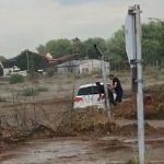 Car owner surprised by storm water