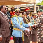 President confers ranks on young officers