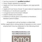 BMA – Vacancy