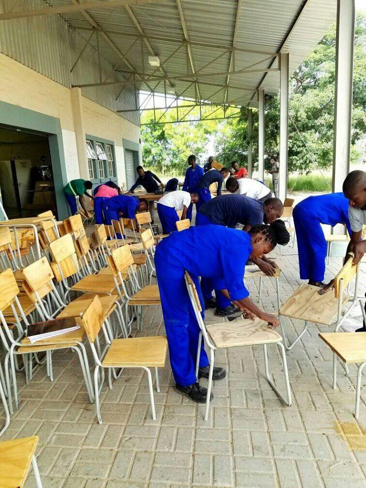 COSDEC trainees Ondangwa skills Welding Metal Fabrication