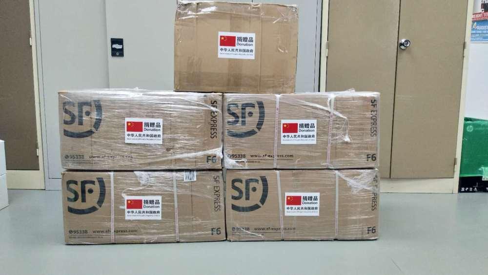 test kits Chinese Embassy Namibia coronavirus