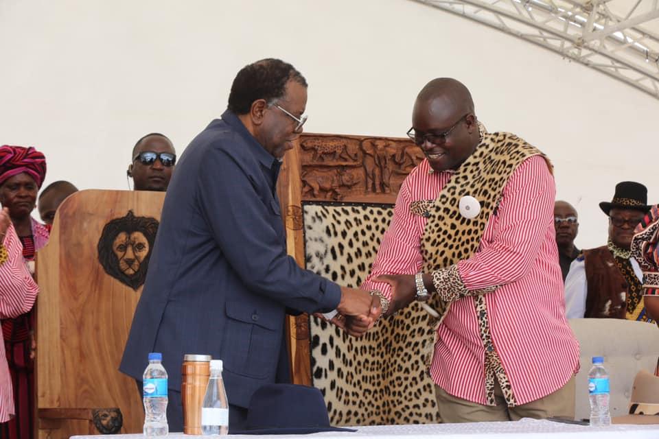 Hage Geingob Ondonga King Phillemon Shuumbwa