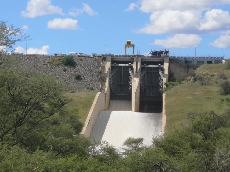 Von Bach Dam gates flood