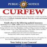 Curfew will be strictly enforced