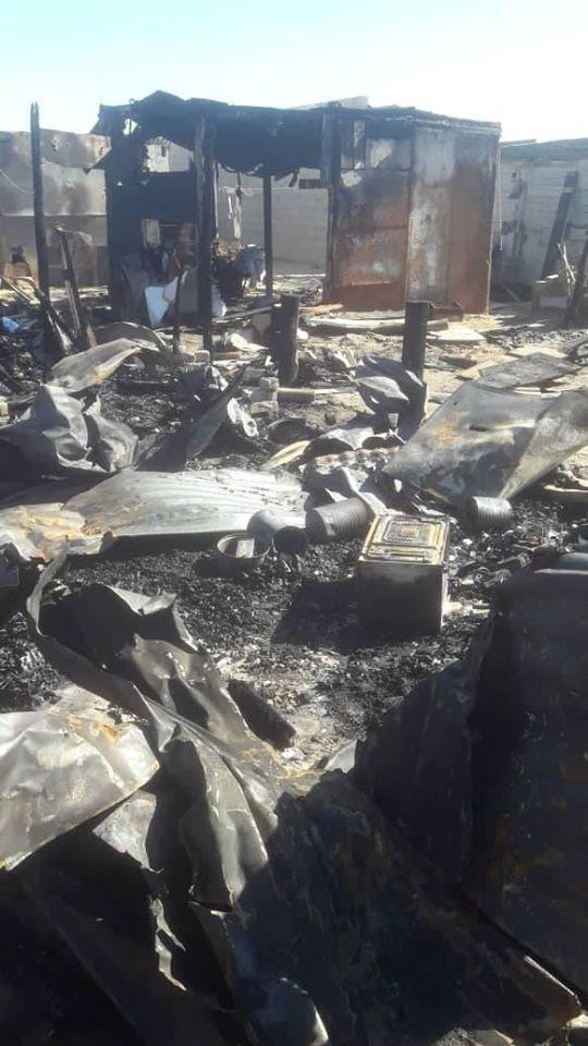 Fire destroys ten shacks children playing matches flammable materials