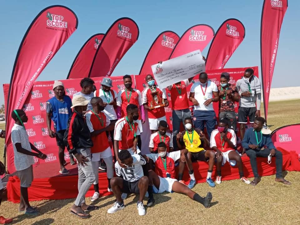 Okafuka Trading wins Top Score tournament champions seven-a-side Oshiwana Embandu Stadium Oshakati