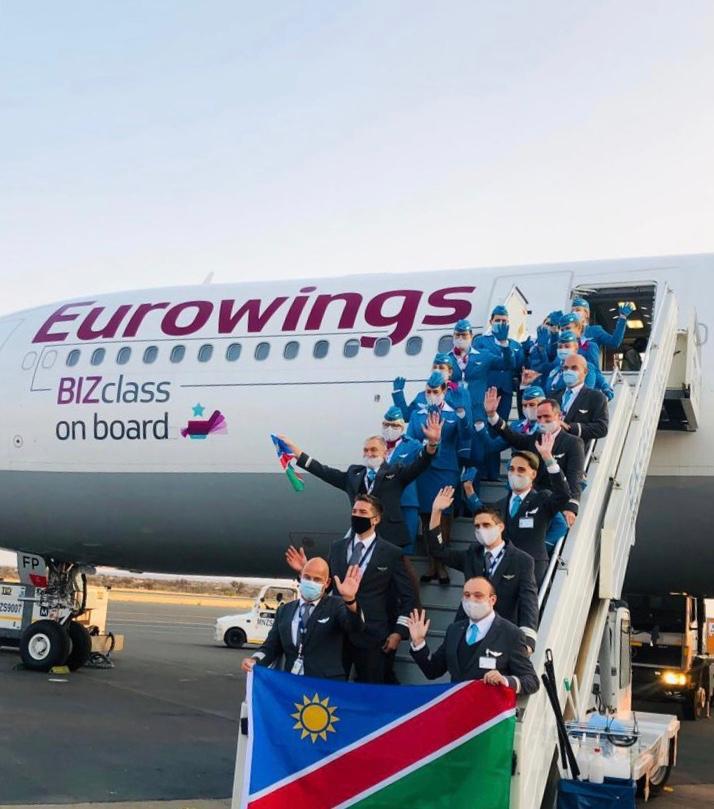 Namibia tourist flight airline flight Europe Namibia Tourism