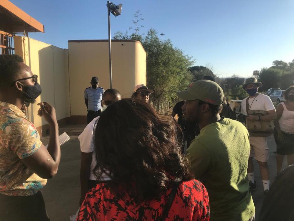 anti-violence protesters arrested assaulted Windhoek demonstration sexual gender-based femicide