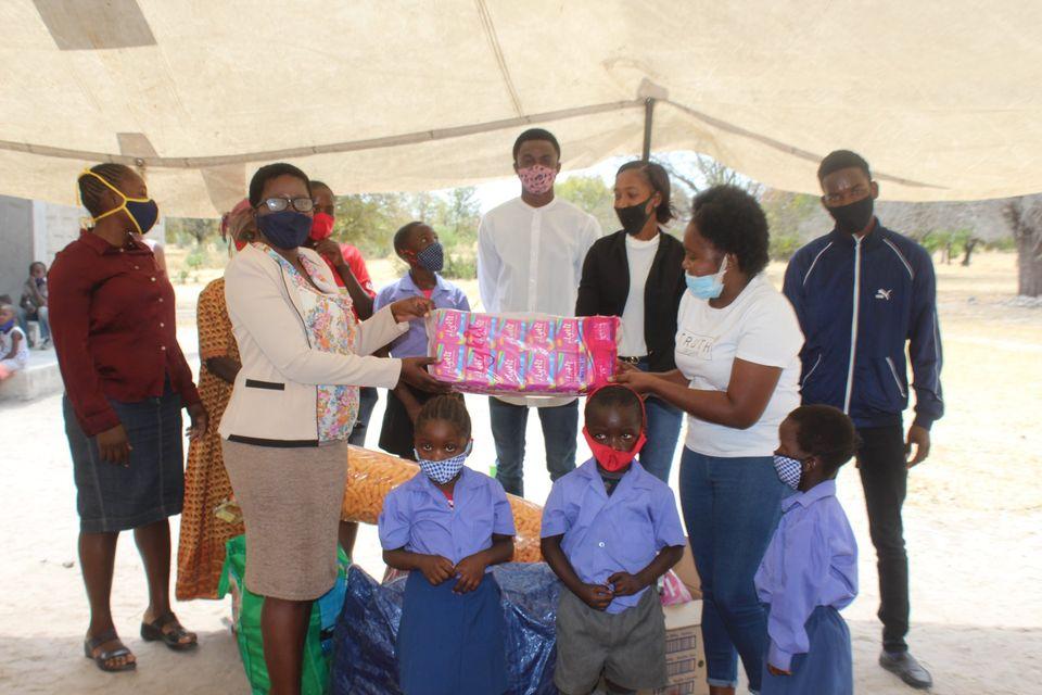 Tutekula children assistance Joy Makers Foundation Centre Onhuno hygiene supplies