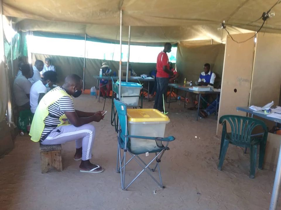 polling stations Omusati region voters verification devices