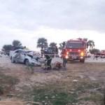 One dies, six injured in car crash