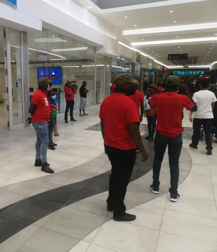 AR blocks entrance Dunes Mall illegally countrywide protest