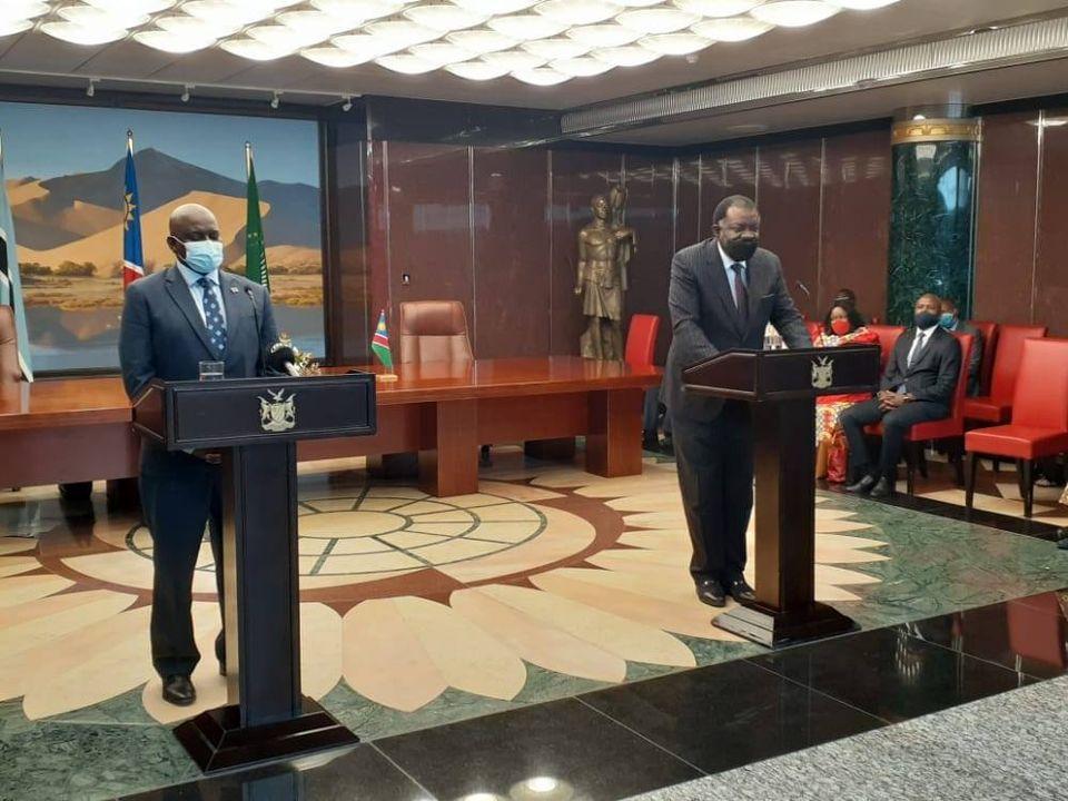 expresses BDF shootings President Mokgweetsi Masisi official visit Namibia expressed regret