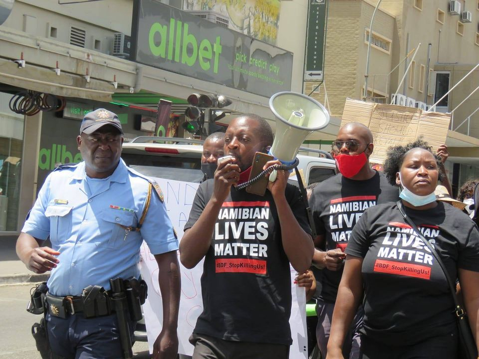 Protest BDF shootings Namibian Lives Matter government High Court