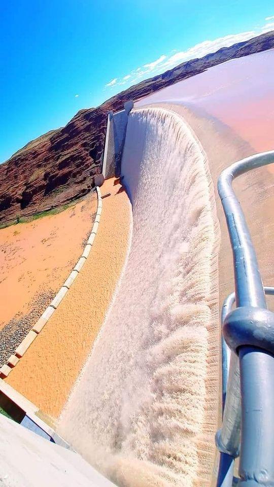 Spectacular Neckartal Dam full capacity witness