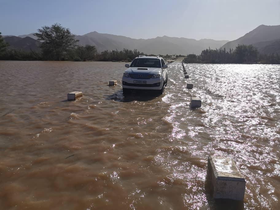 Flood warning lower Orange River Harry Oppenheimer Bridge Oranjemund Alexander Bay South Africa