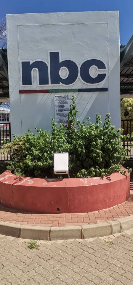 Striking NBC staff Namibian Broadcasting Cooperation employees strike