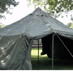 Tent stolen from veterinary checkpoint