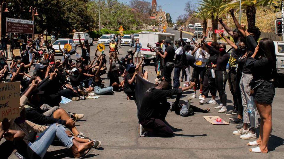 Students protest against harassment College Arts COTA Katutura sexually harassed taxi drivers Windhoek Okahandja school