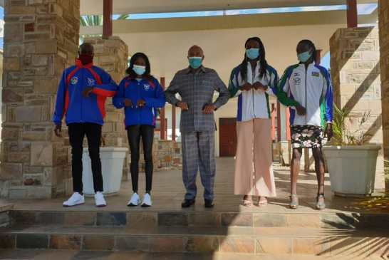 Mbumba honours record-breaking athletes