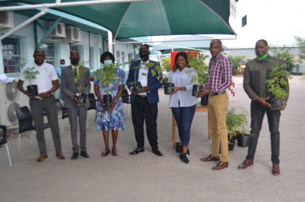 donates Vilho Shikeva Ondangwa donated trees town council