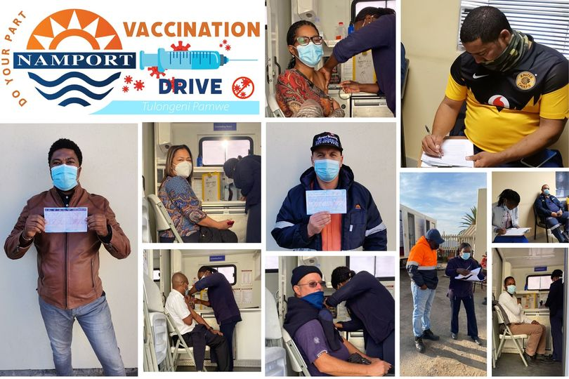 Vaccination drives Namport Namibian Ports Authority national vaccination drive partnered Ministry Health Social Services MoHSS vaccinations