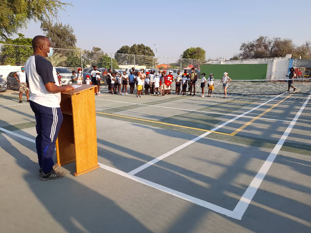 reopens Ongwediva Tennis Court reopened public