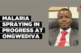 Malaria spraying in progress at Ongwediva