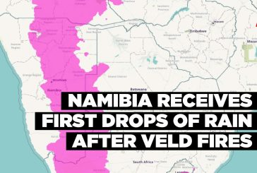 Namibia receives first drops of rain after veld fires