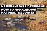 Namibians will determine how to manage own natural resources