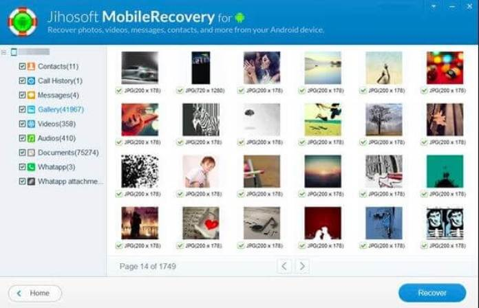 télécharger Jihosoft Android Phone Recovery