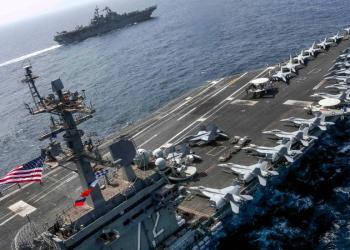 """Irán puede hundir los portaaviones de Estados Unidos con sus """"armas secretas"""", dice general Morteza Qorbani. En la imagen, el portaaviones USS Abraham Lincoln enviado al golfo Pérsico. (AFP)."""