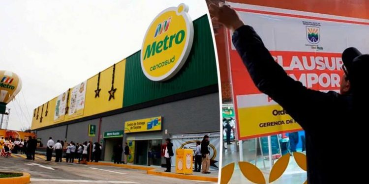 Municipalidad de Independencia clausuró local de supermercados Metro