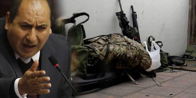 Ricard Arce denuncia ingreso de las Fuerzas Armadas al Congreso