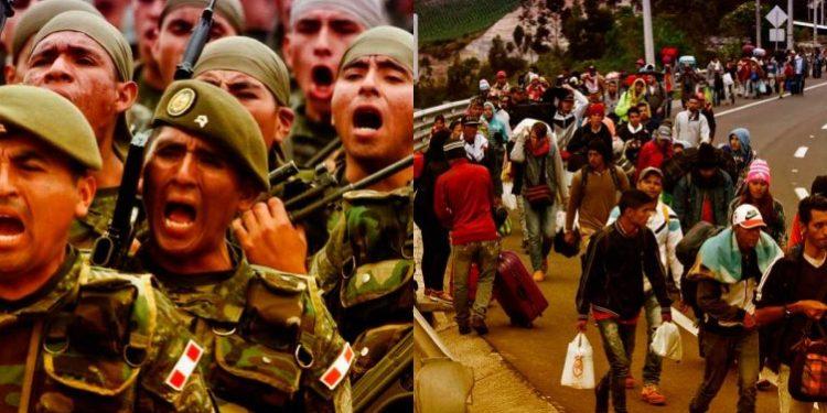 Militar peruano anuncia cierre de la frontera para que no ingresen más venezolanos al país