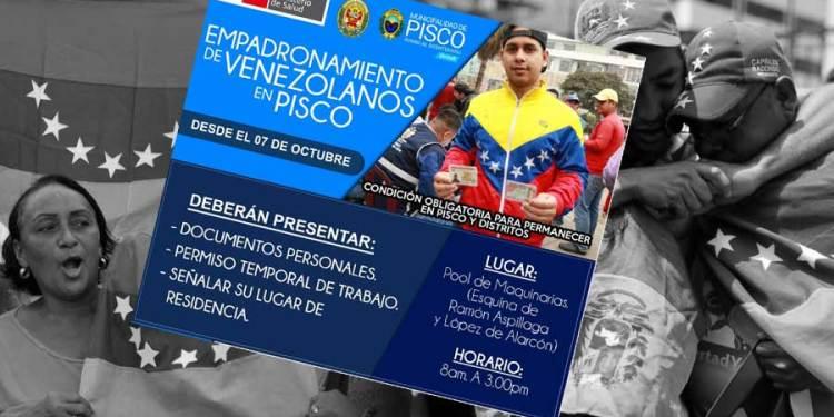 Empadronamiento obligatorio para venezolanos y quién no lo haga dejará la ciudad