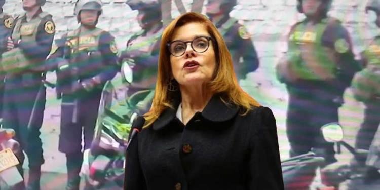 Fuerte resguardo policial en casa de la Mercedes Aráoz