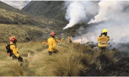 Bomberos controlaron incendio forestal en el cerro Atacazo