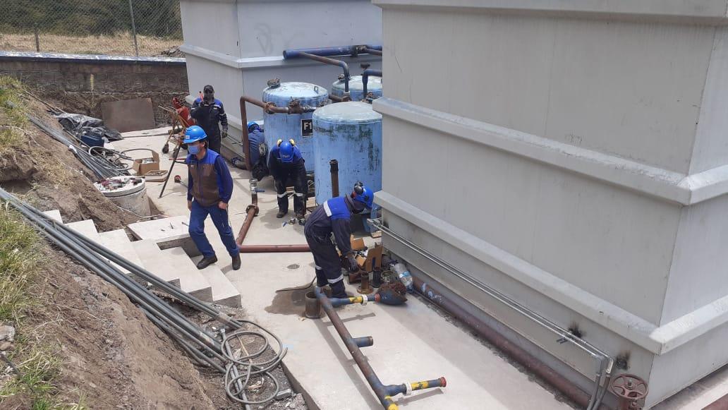 Implementación de plantas de agua potable en Conocoto registra un avance del 92 %