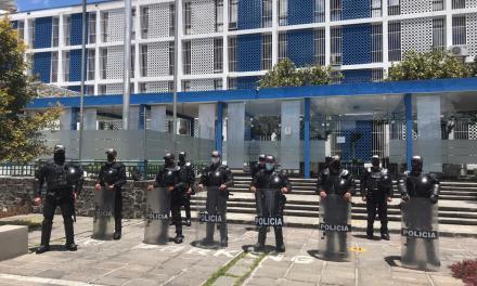 Ante marchas anunciadas, la Policía despliega operativo de seguridad