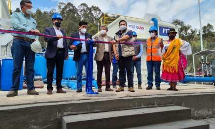 Habitantes de Conocoto cuentan con nuevo sistema de dotación de agua potable