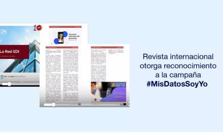 Una Revista internacional otorga reconocimiento a #MisDatosSoyYo