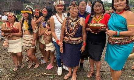 Mujeres de las nacionalidades amazónicas conmemoran el Dia Internacional de la Mujer