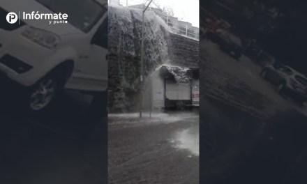 Fuertes lluvias en Ambato se reportan a través de las redes sociales