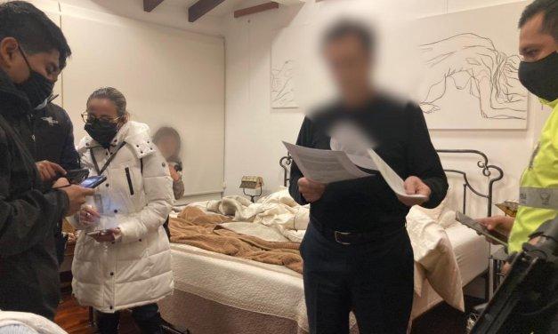 Contralor Pablo Celi, detenido. Allanamientos realizados esta madrugada dejan ocho detenidos