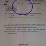 Adresa PNL catre Ateneul Pastia