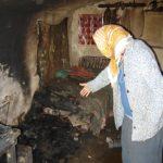 batrana in casa incendiata
