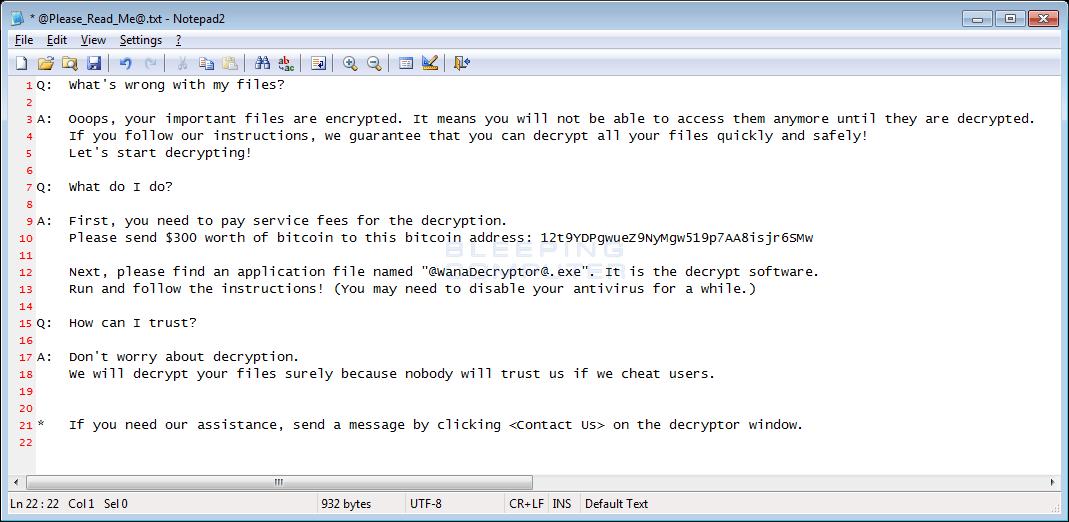 nota wannacrypt0r