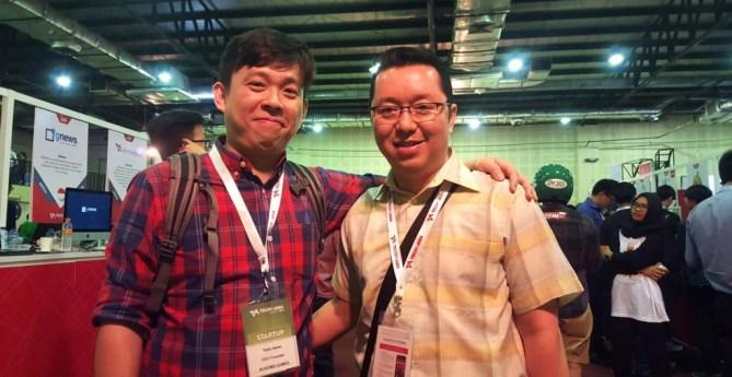 Bersama Tedo Salim di Stand Alkemis Games